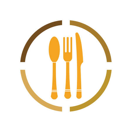Cutlery vector icon illustration sign