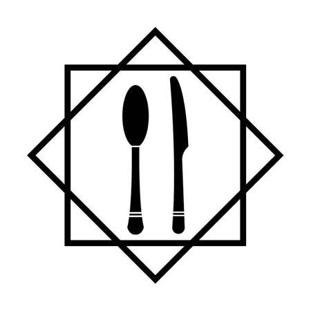 Cutlery vector icon illustration sign Cutlery and Kitchen Set Icon Design Template Иллюстрация