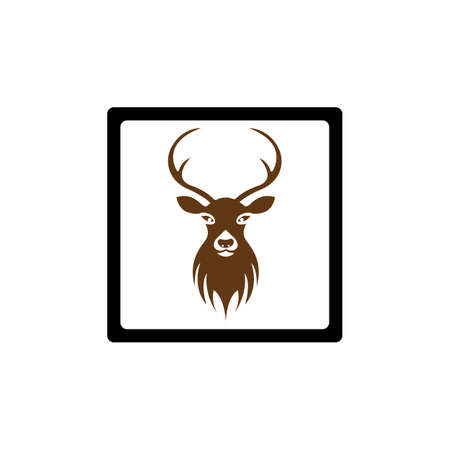 Deer Logo Template vector icon illustration design Çizim