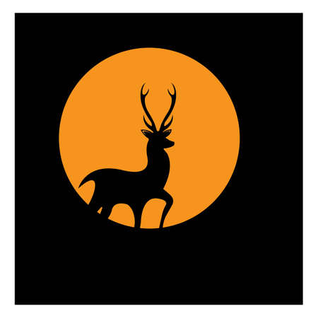 Deer Logo Template vector icon illustration design Ilustrace