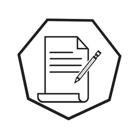 Documents icon stock vector illustration flat design Ilustração