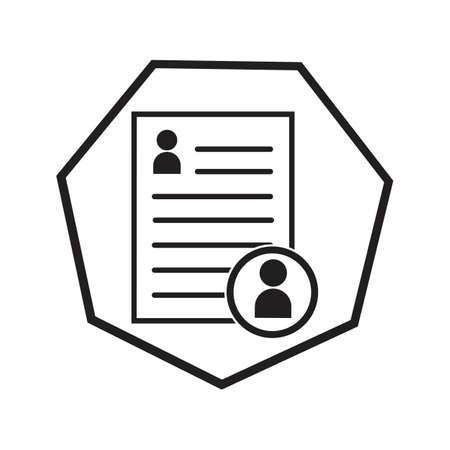 Documents icon stock vector illustration flat design  イラスト・ベクター素材