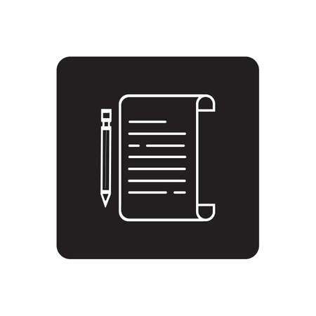 Documents icon stock vector illustration flat design Illustration