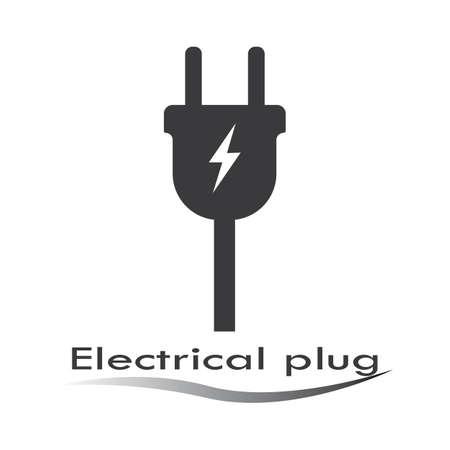 electrical plug   Template vector icon illustration design Vectores