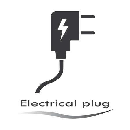 electrical plug icon Template icon illustration design