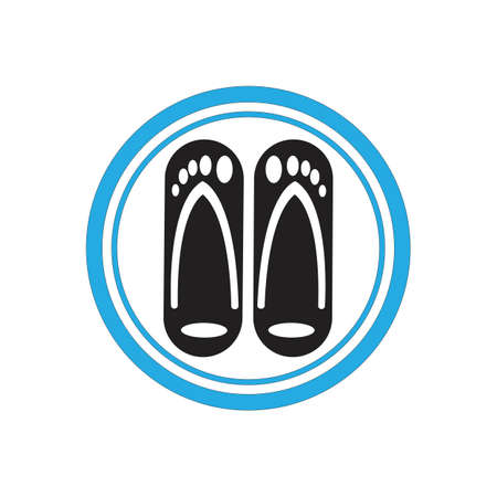 flip flop and Slippers isolated icon vector trendy illustration design template
