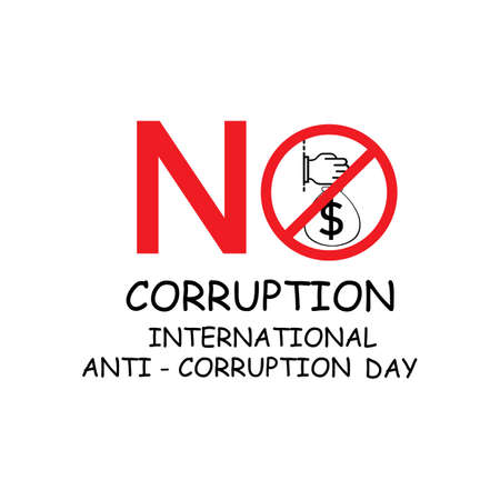 Stop Corruption and International Anti-Corruption Day Illustration