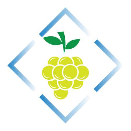 Grapes icon vector illustration design template