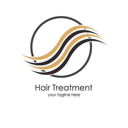 Hair treatments vector icon Illustration design template.