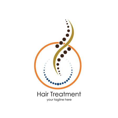 Hair treatments vector icon Illustration design template. Archivio Fotografico - 137251555