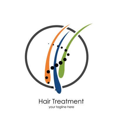 Hair treatments vector icon Illustration design template. Archivio Fotografico - 137251666
