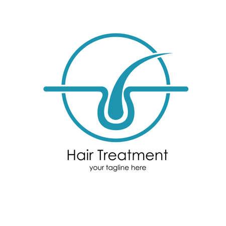 Hair treatments vector icon Illustration design template. Archivio Fotografico - 137251667