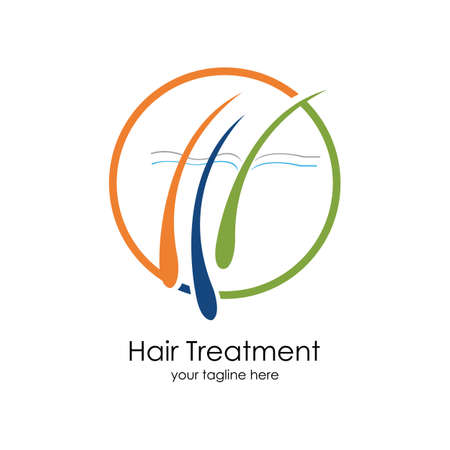 Hair treatments vector icon Illustration design template. Archivio Fotografico - 137251837