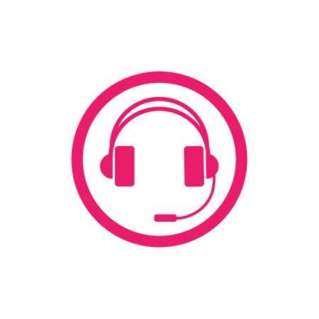 headphones vector icon,call center icon Vector illustration design