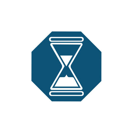 Hourglass logo Icon Vector Illustration design template