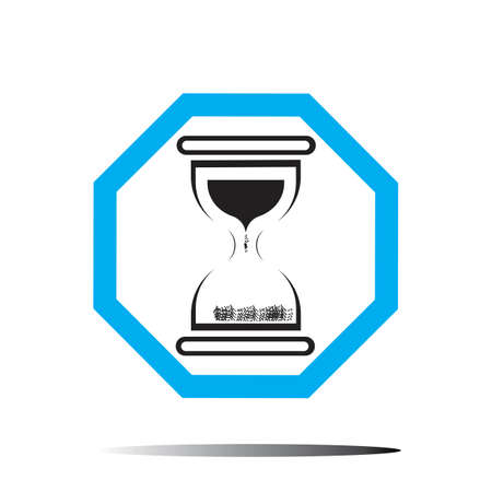 Hourglass logo Icon Vector Illustration design template
