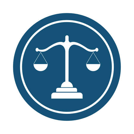 justice law Logo Template vector illsutration design Illustration