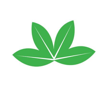 vettore logo foglia verde