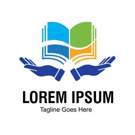 Logotipo de libro y plantilla de diseño de vector de icono de librería Diseño de ilustración de vector de plantilla de logotipo de libro