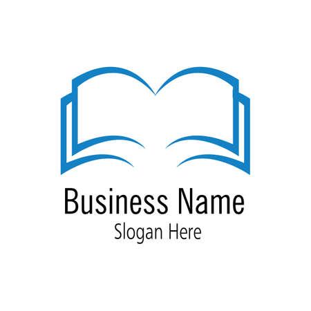 logo del libro e icona della libreria modello di disegno vettoriale