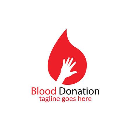 Blood Donation Logo Template Design VectorBlood logo template vector icon