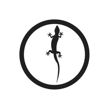 Lizard vector icon logo and symbols template - Vector Archivio Fotografico - 136906660