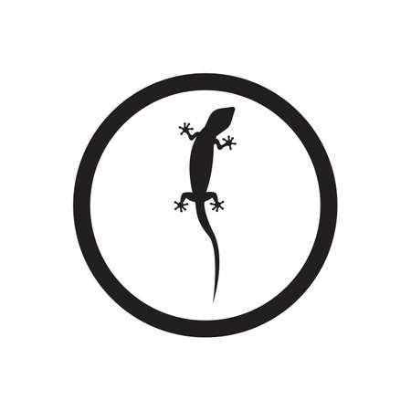 Lizard vector icon logo and symbols template - Vector Archivio Fotografico - 136906728