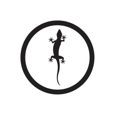 Lizard vector icon logo and symbols template - Vector Archivio Fotografico - 136906729