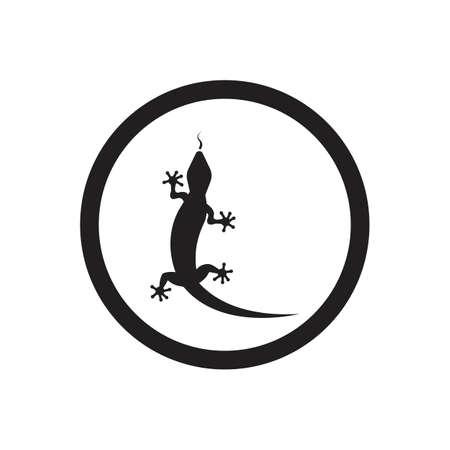 Lizard vector icon logo and symbols template - Vector Archivio Fotografico - 136906732