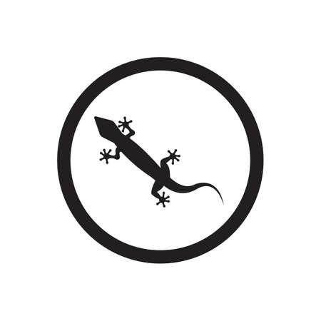 Lizard vector icon logo and symbols template - Vector Archivio Fotografico - 136906735