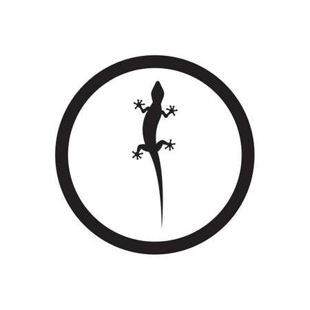 Lizard vector icon logo and symbols template - Vector Archivio Fotografico - 136906736