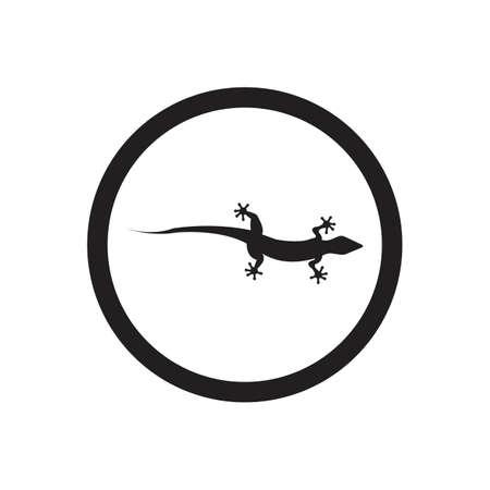 Lizard vector icon logo and symbols template - Vector Archivio Fotografico - 136906737