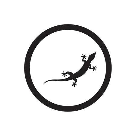Lizard vector icon logo and symbols template - Vector Archivio Fotografico - 136906742