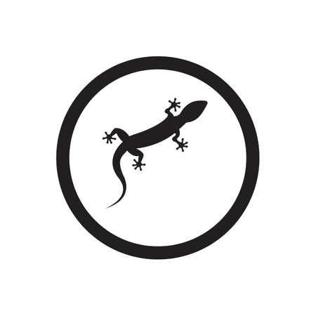 Lizard vector icon logo and symbols template - Vector Archivio Fotografico - 136906743