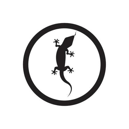 Lizard vector icon logo and symbols template - Vector Archivio Fotografico - 136906758