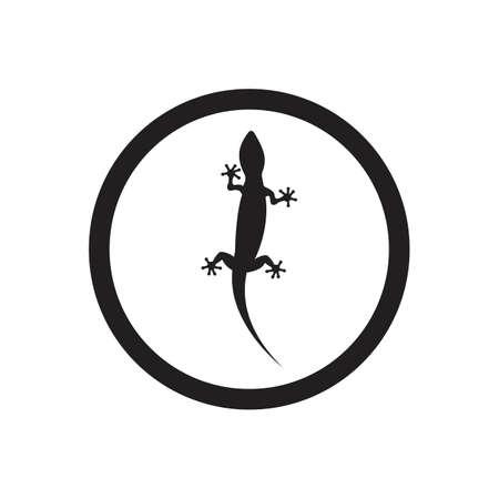 Lizard vector icon logo and symbols template - Vector Archivio Fotografico - 136906761