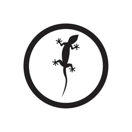 Lizard vector icon logo and symbols template - Vector Archivio Fotografico - 136906763