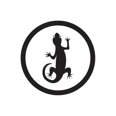 Lizard vector icon logo and symbols template - Vector Archivio Fotografico - 136906772