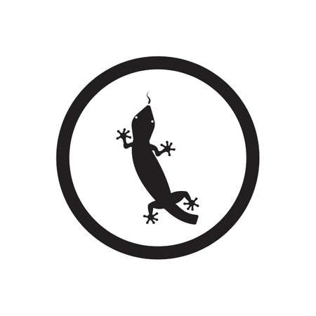 Lizard vector icon logo and symbols template - Vector Archivio Fotografico - 136906797