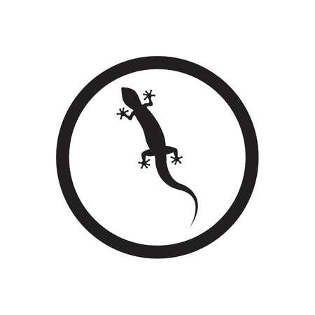 Lizard vector icon logo and symbols template - Vector Archivio Fotografico - 136906801