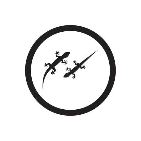 Lizard vector icon logo and symbols template - Vector Archivio Fotografico - 136906805