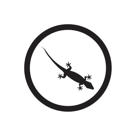 Lizard vector icon logo and symbols template - Vector Archivio Fotografico - 136906809