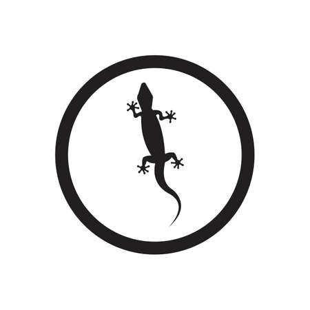 Lizard vector icon logo and symbols template - Vector Archivio Fotografico - 136906810