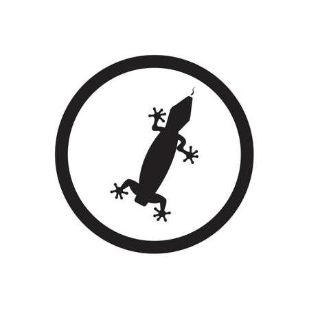 Lizard vector icon logo and symbols template - Vector Archivio Fotografico - 136906812