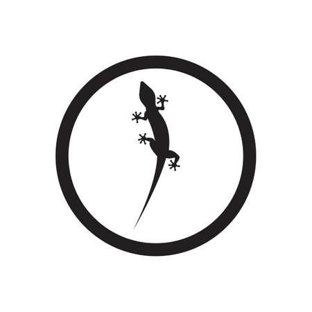 Lizard vector icon logo and symbols template - Vector Archivio Fotografico - 136906826