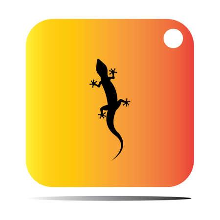 Lizard vector icon logo and symbols template - Vector Illustration