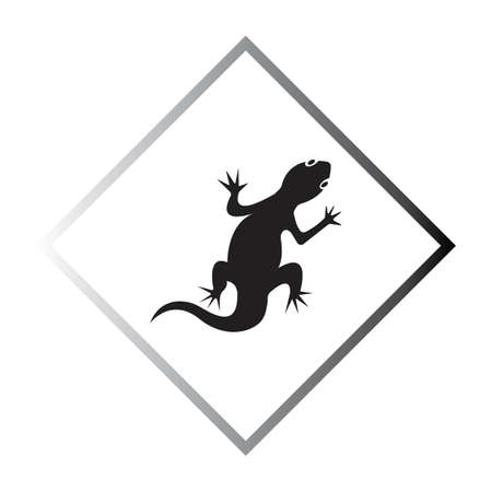 Lizard vector icon logo and symbols template - Vector Archivio Fotografico - 136907087