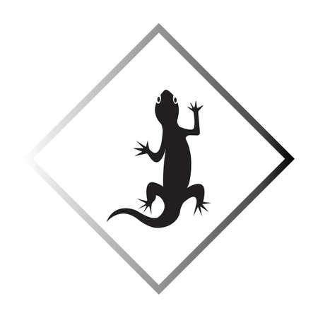 Lizard vector icon logo and symbols template - Vector Archivio Fotografico - 136907108