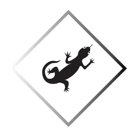 Lizard vector icon logo and symbols template - Vector Archivio Fotografico - 136907112