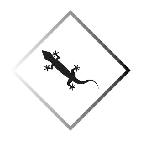 Lizard vector icon logo and symbols template - Vector Illustration